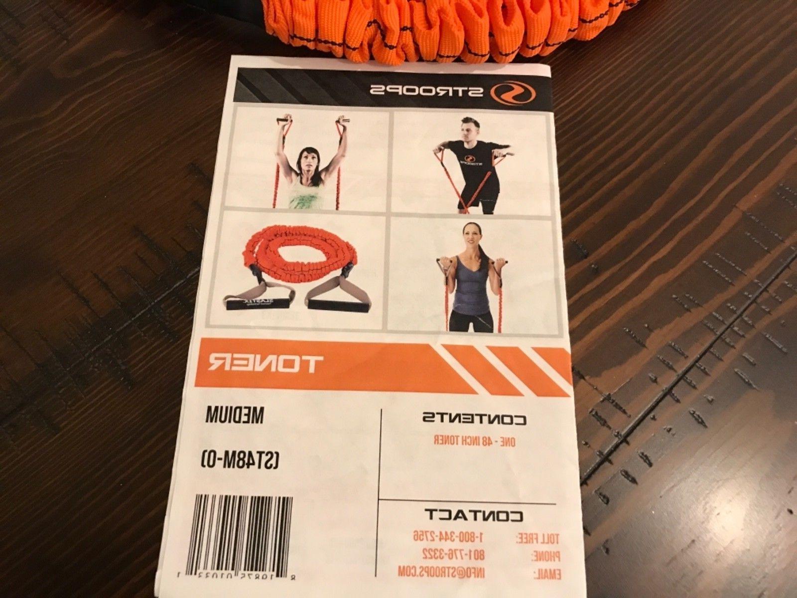 "Stroops 48"" Slastix Toner - Medium Resistance - Orange/Orange"