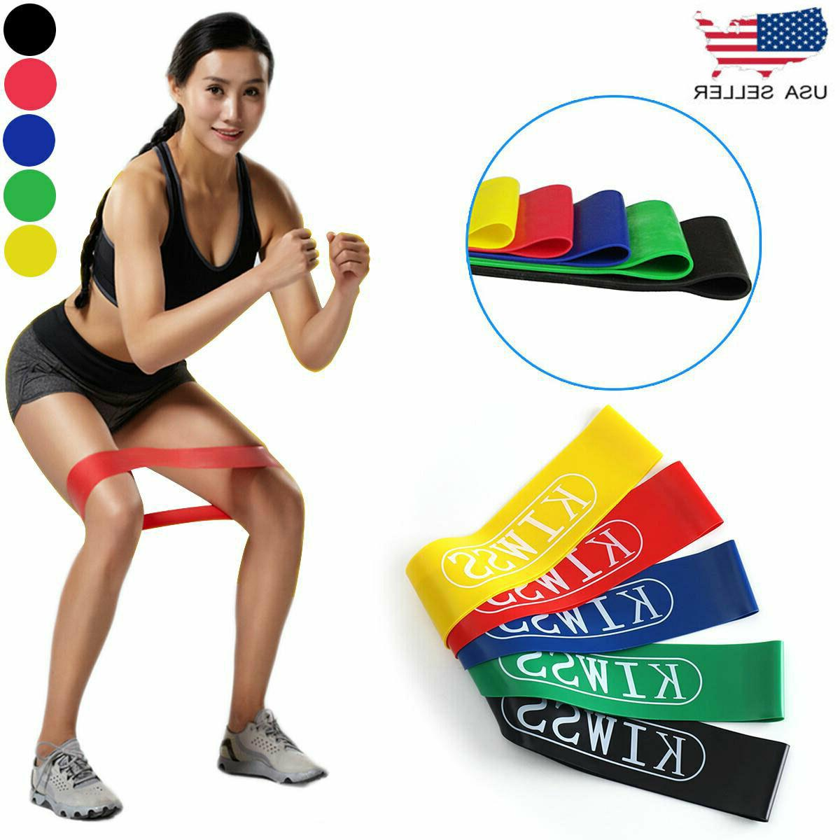 16pcs heavy duty resistance band loop exercise
