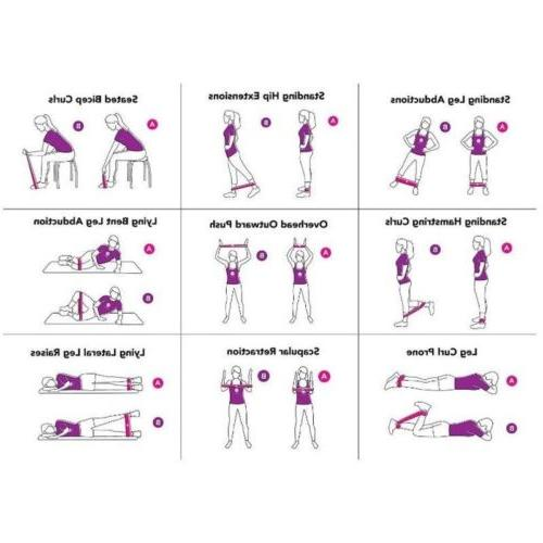 Resistance Bands Mini Set Exercise Fitness Yoga Women