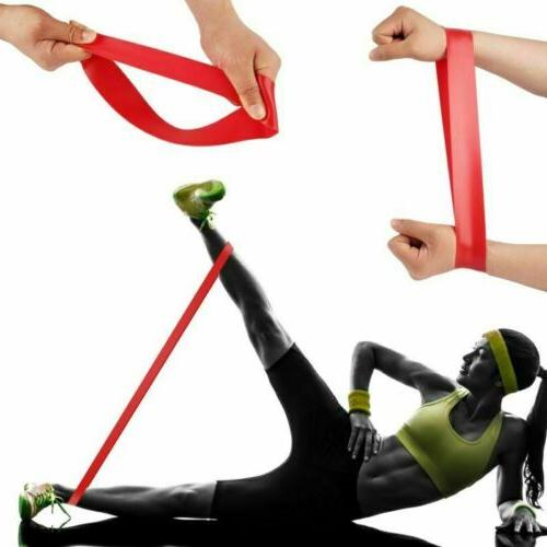 4x Exercise Bands Home Stretch Yoga Fitness