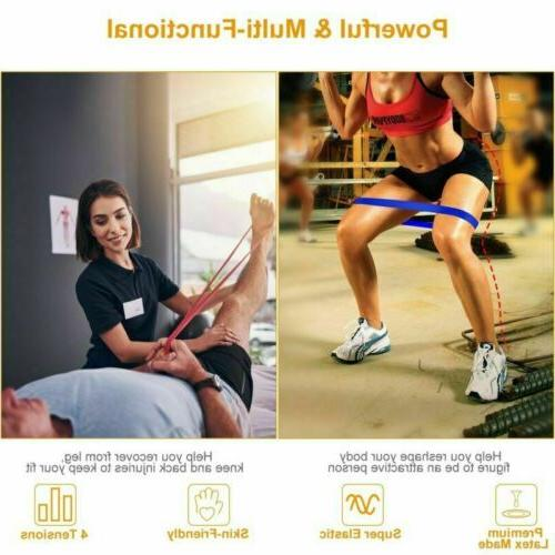 4x Elastic Exercise Home Stretch Yoga