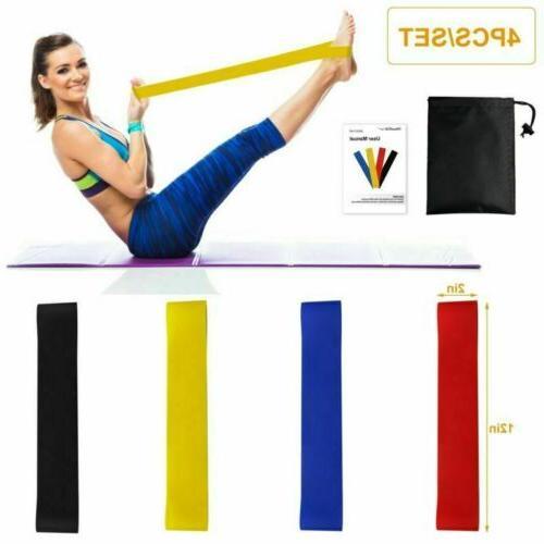 4x Elastic Exercise Bands Stretch Yoga