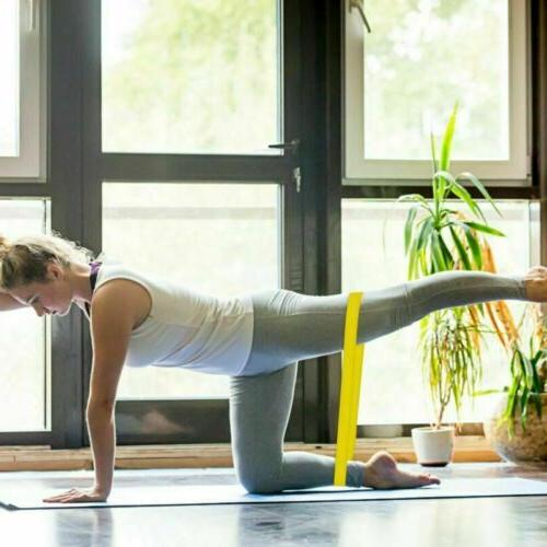 4x Elastic Resistance Exercise Stretch Yoga Fitness