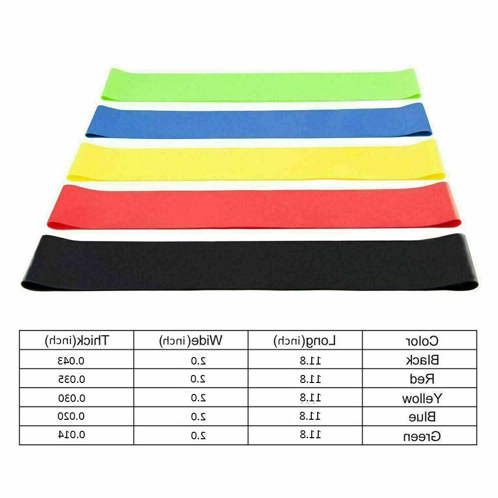 Resistance Bands 5 PCS Set Strength Exercise Yoga Workout Pull Up