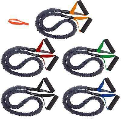 5 Pack - FitCord Premium Resistance Bands - 7lbs, 12lbs, 18l