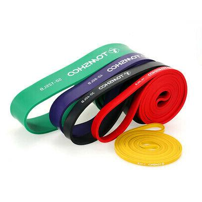5 Resistance Bands with Door Anchor Handles E8T9