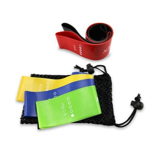 resistance loop bands yoga exercise gym workout