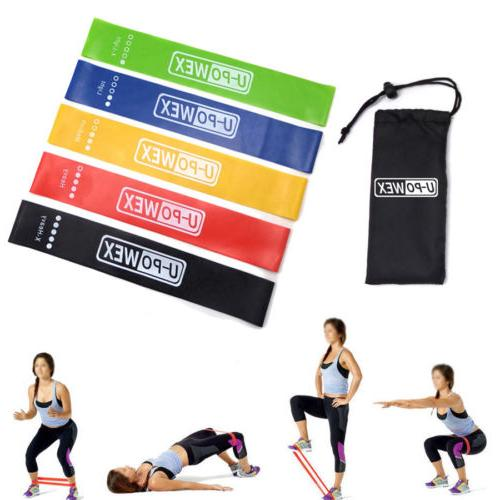 Resistance Bands Exercise Gym Butt Glutes 5 Sets