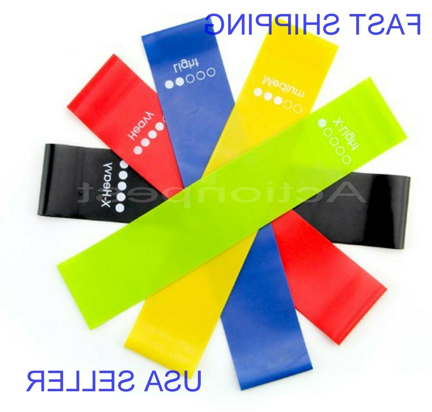 5 Pcs Loop Fitness Yoga Training Bandas de