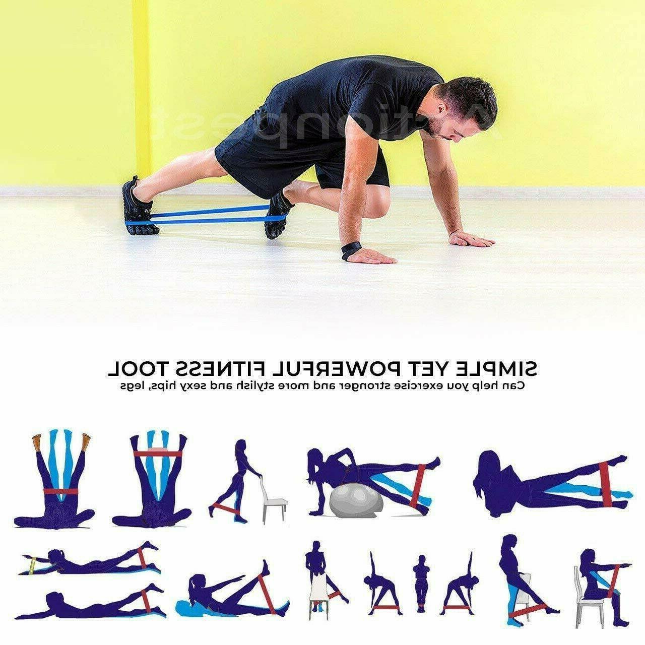 5 Pcs Resistance Exercise Loop Fitness TrainingBandas resistencia