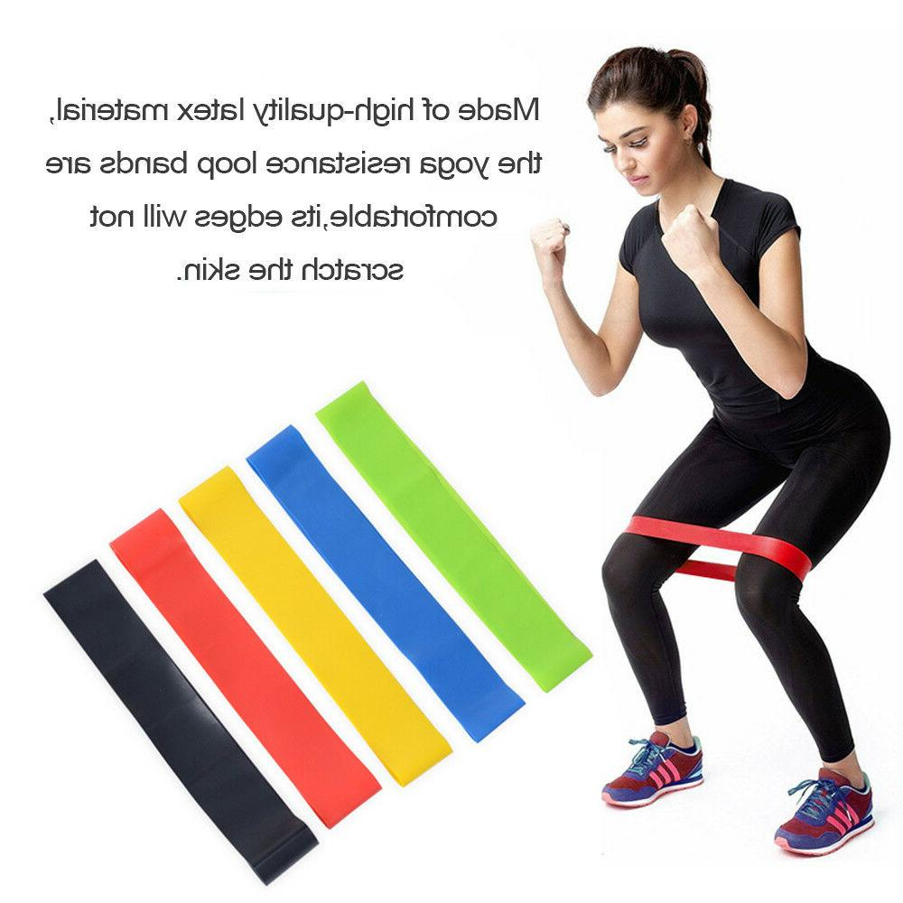 5 RESISTANCE BANDS LOOP Exercise Yoga Home