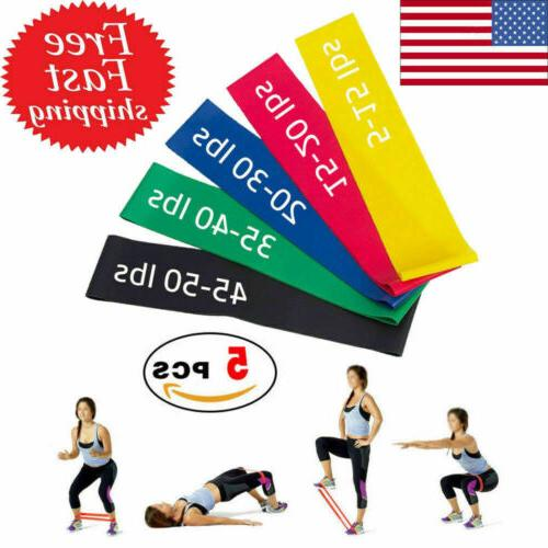 5 set resistance loop bands yoga crossfit