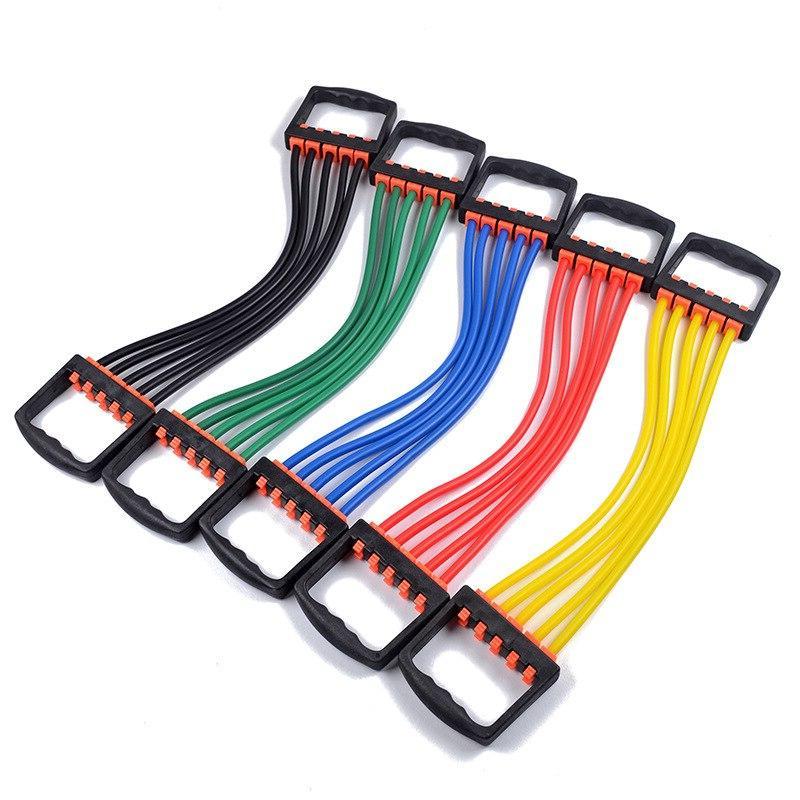 Expander Tubes Stretch Rope <font><b>Fitness</b></font>