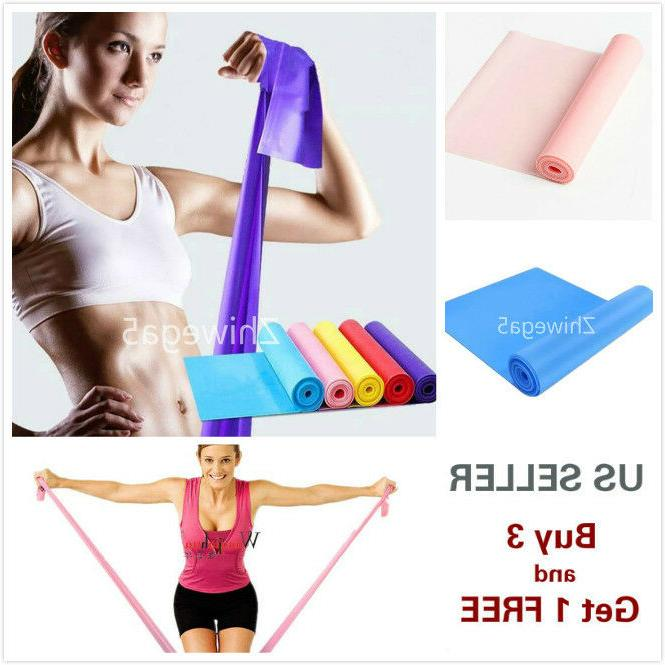 5 stretch resistance bands exercise pilates yoga