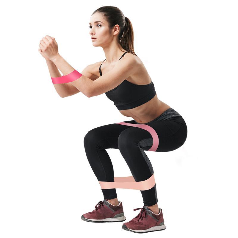 5Pcs/<font><b>Set</b></font> <font><b>Bands</b></font> Fitness Gum Yoga Workout <font><b>Bands</b></font> Rubber Equipments