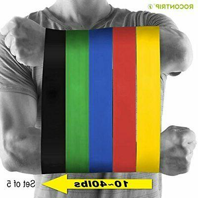 5pcs gym equipment resistance bands strength training