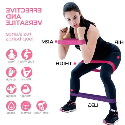 5PCS Latex Resistance Gym + Bag