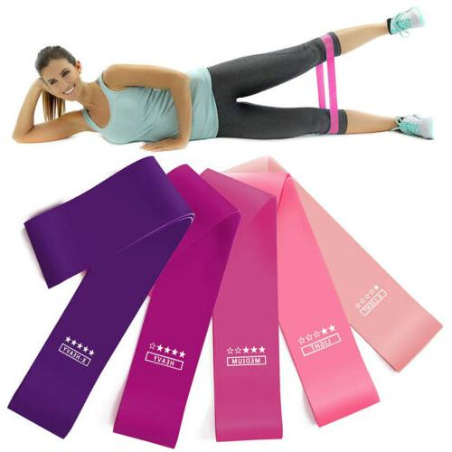 5pcs latex resistance bands loop exercise sports
