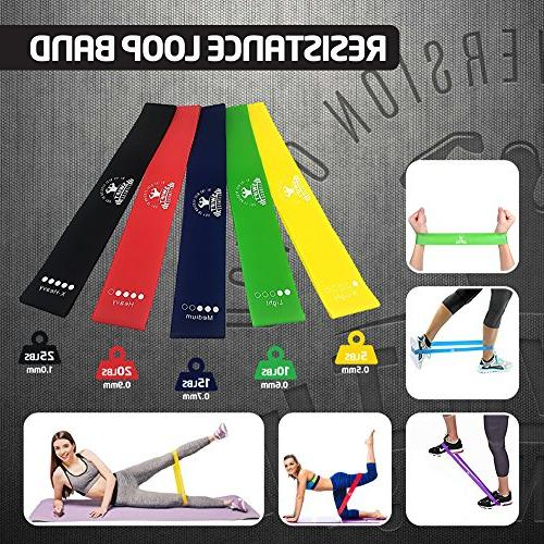 80 Day Obsession - Resistance Loop Bands and Professional Dual Sided Core Foot Speed Rope