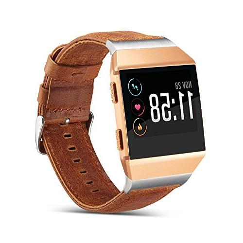 Antank for Fitbit Ionic Bands, Leather Replacement Watch Ban