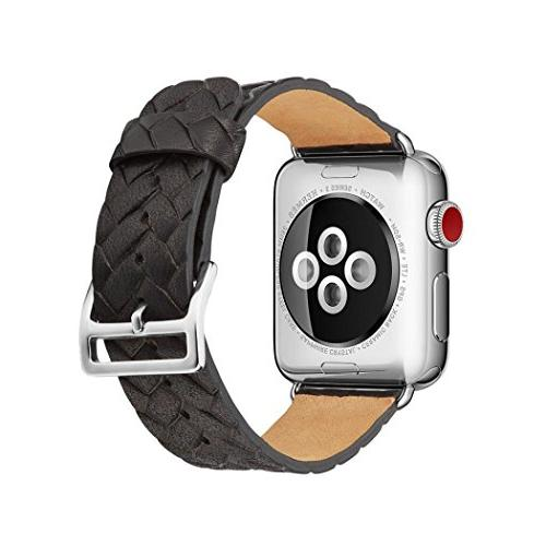 For Apple Watch Band, SUKEQ 2018 Newest Genuine Leather Brai