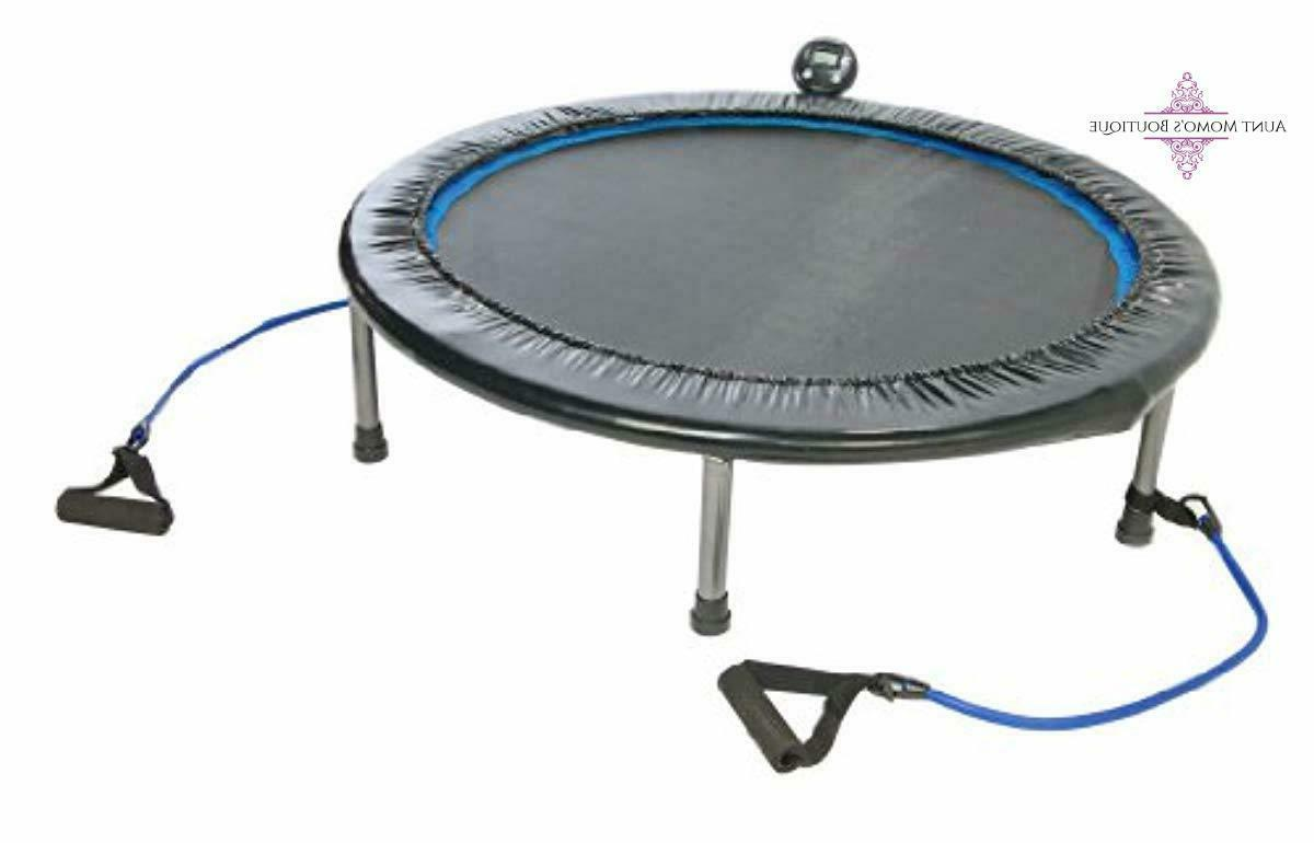 adult trampoline with resistance bands 38 inch