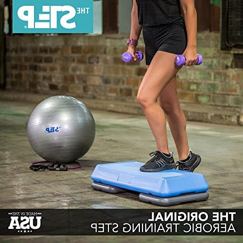 Step Aerobic Exercise with Adjustable Dumbbells Ball Workout Need & Fitness
