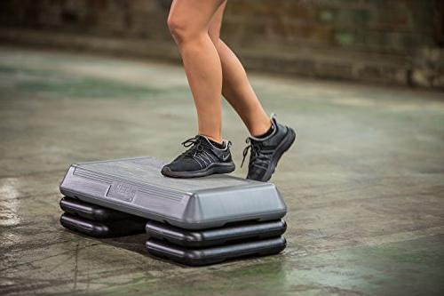 """The Step Original Aerobic Platform – Circuit Grey Four Included with 4"""", and Options"""