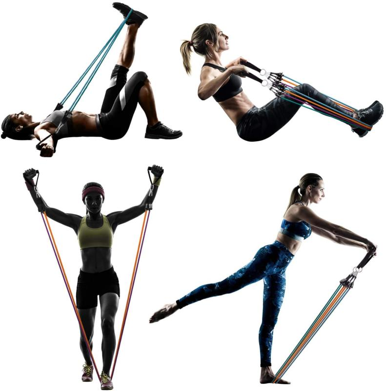 Ambor Bands Exercise With Ankle Straps,