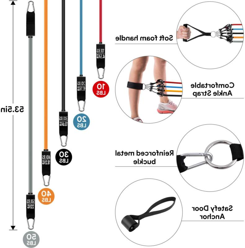 Ambor Bands Exercise Bands With Handles, Ankle Straps, Anch