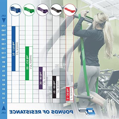DYNAPRO Assisted Pull Up Bands - Heavy Duty Power Resistance Stretch Band Band