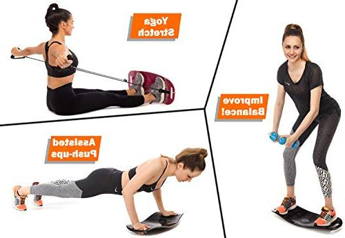 Balance Set | Premium Fit Board + Mat 2 + Exercise Book Core, Abs, - Improve Balance a Fitness Exercise