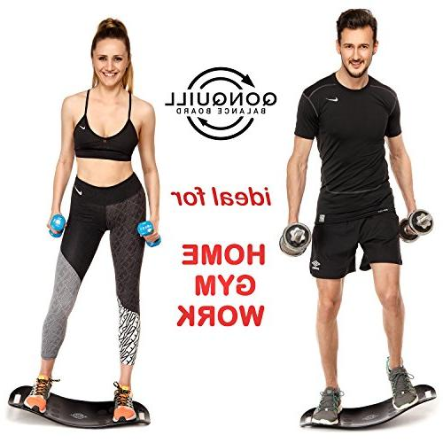 Balance Board Premium + Mat + 2 Resistance Bands Exercise Abs, a Simply Fitness