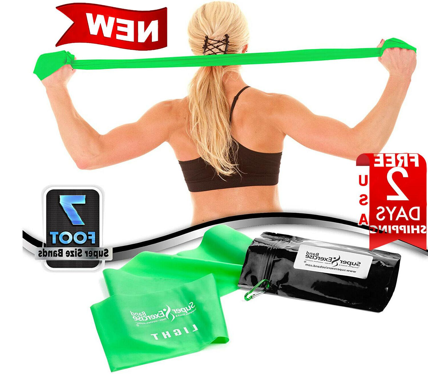 Super Exercise Band Resistance Bands 7 Long Free Anchor