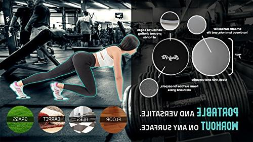 Bodyfit & Quality resistance Set 5 2 Double-Sided Core Discs, BONUS Band Fitness and Sliders Workout