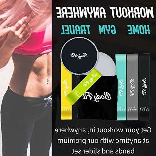 Bodyfit Premium Gliding Discs 2 Quality Core Sliders Gliding Discs, BONUS EBOOK, Booty Fitness and Workout