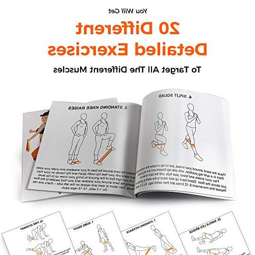 Tone that body Booty Bands for Set of Mini Bands That Don't roll Full Exercise Guide to Target I Butt,