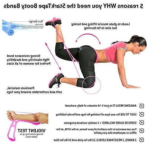 Starktape Resistance Bands 2 System, Glute Exercise, Loop Hip Bands | Perfect Brazilian Glutes