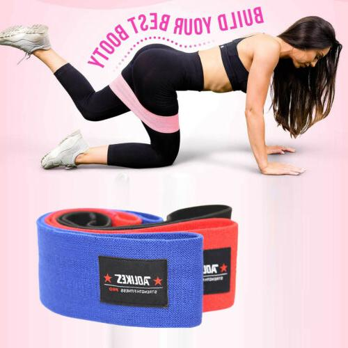 Booty Elastic Resistance Bands Loop Hip Exercise Workout Str