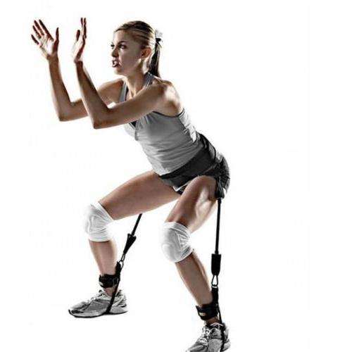 fitness jump leg strength resistance band bounce