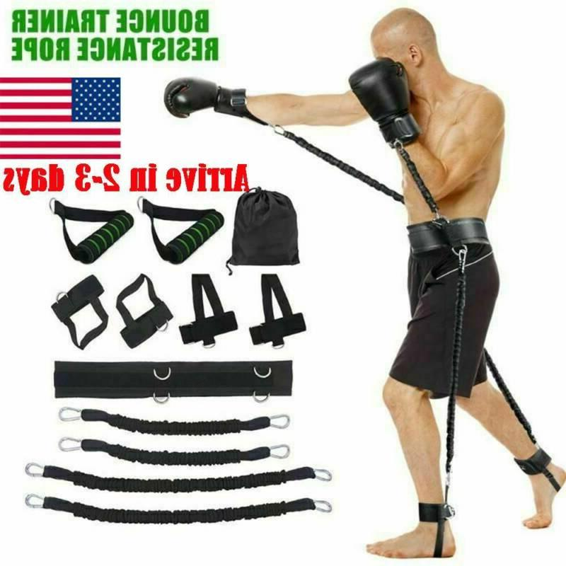 boxing resistance bands set fitness gym strength