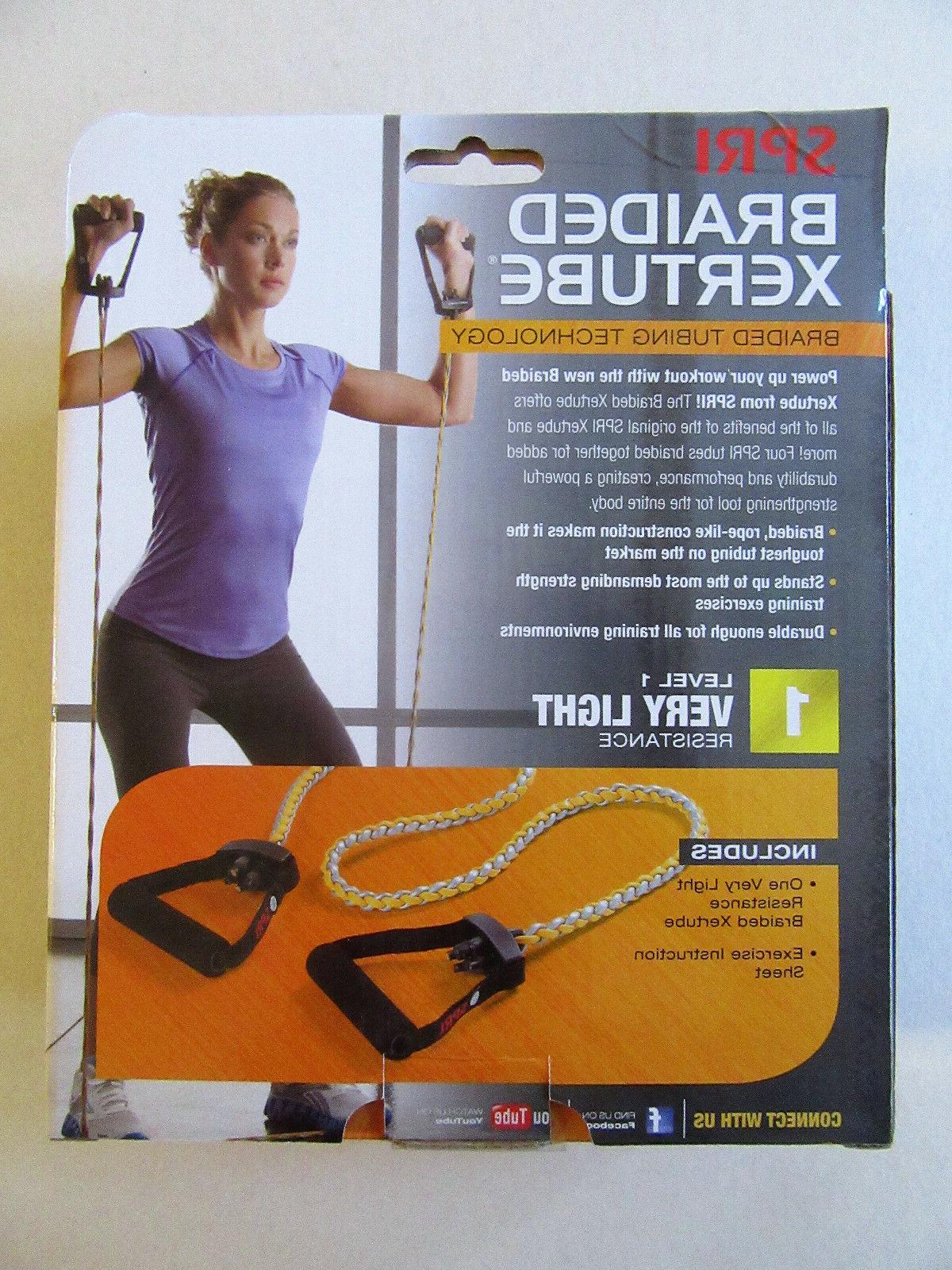 **New** SPRI Braided Xertube Exercise Resistance Band Light Resistance