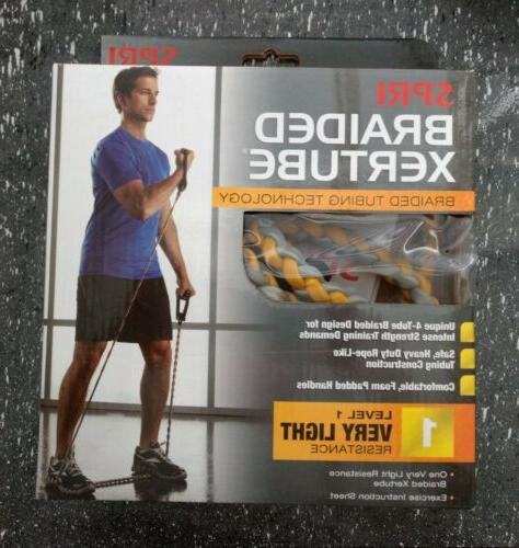 braided xertube exercise resistance band