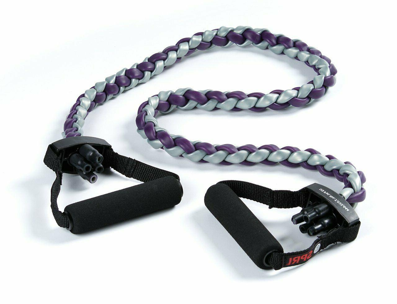 braided xertube resistance band exercise cord purple