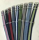 Canvas Watch Band Strap 18mm 20mm 22mm Nylon Military TIMEX