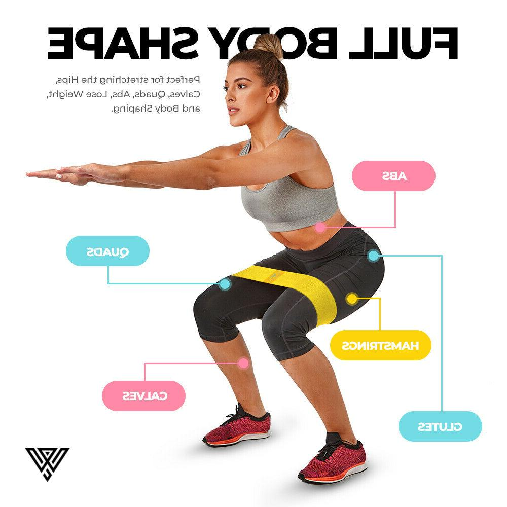 Cloth Resistance Bands Set 3 Exercise Fitness Gym