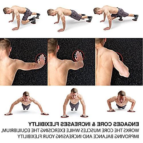 Core & Resistance Loops | Gliding Discs & Exercise Band Set Exercises Beachbody 80 Day for Home & | Build & Flexibility