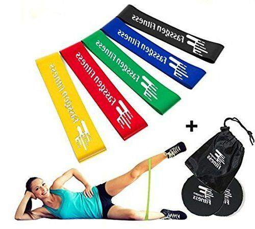 core sliders and resistance bands set exercise