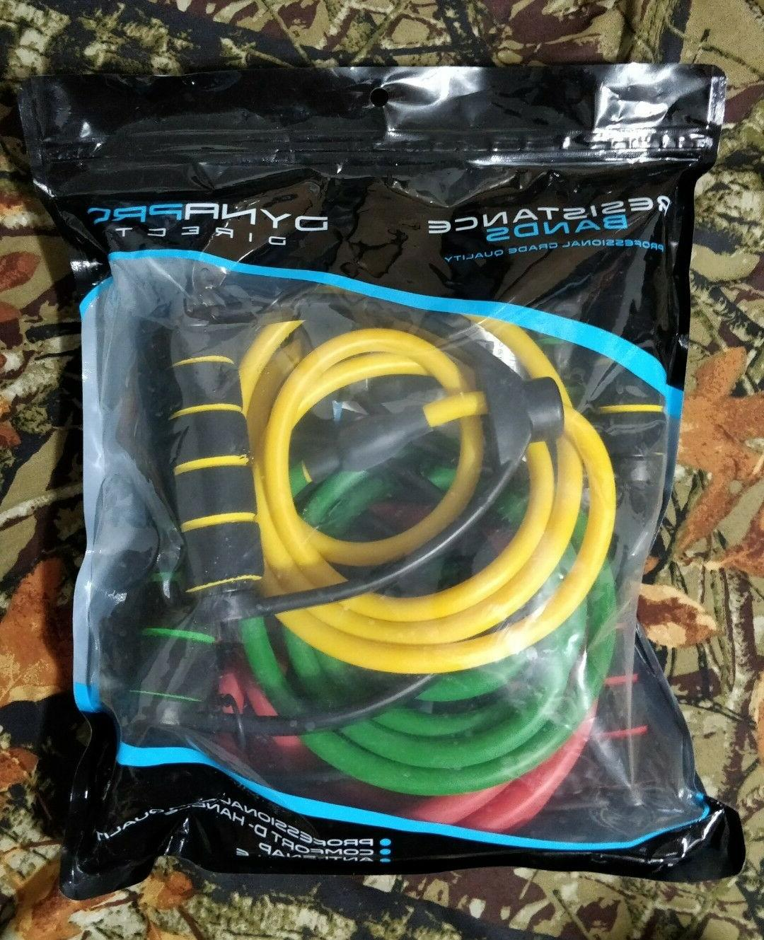 DynaPro Direct Premium Resistance Bands 3-pack Light Medium