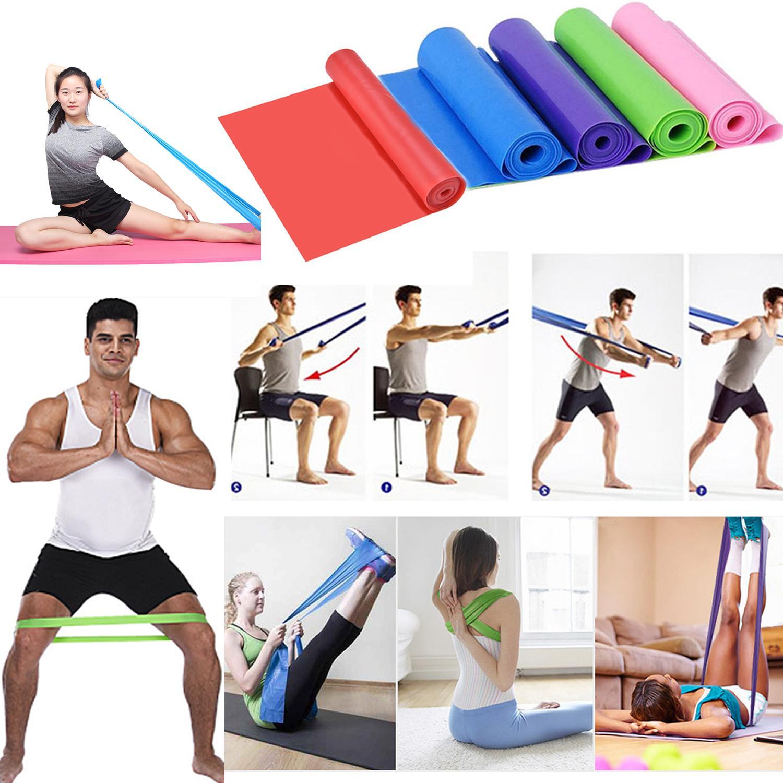 elastic exercise fitness rubber equipment yoga pilates